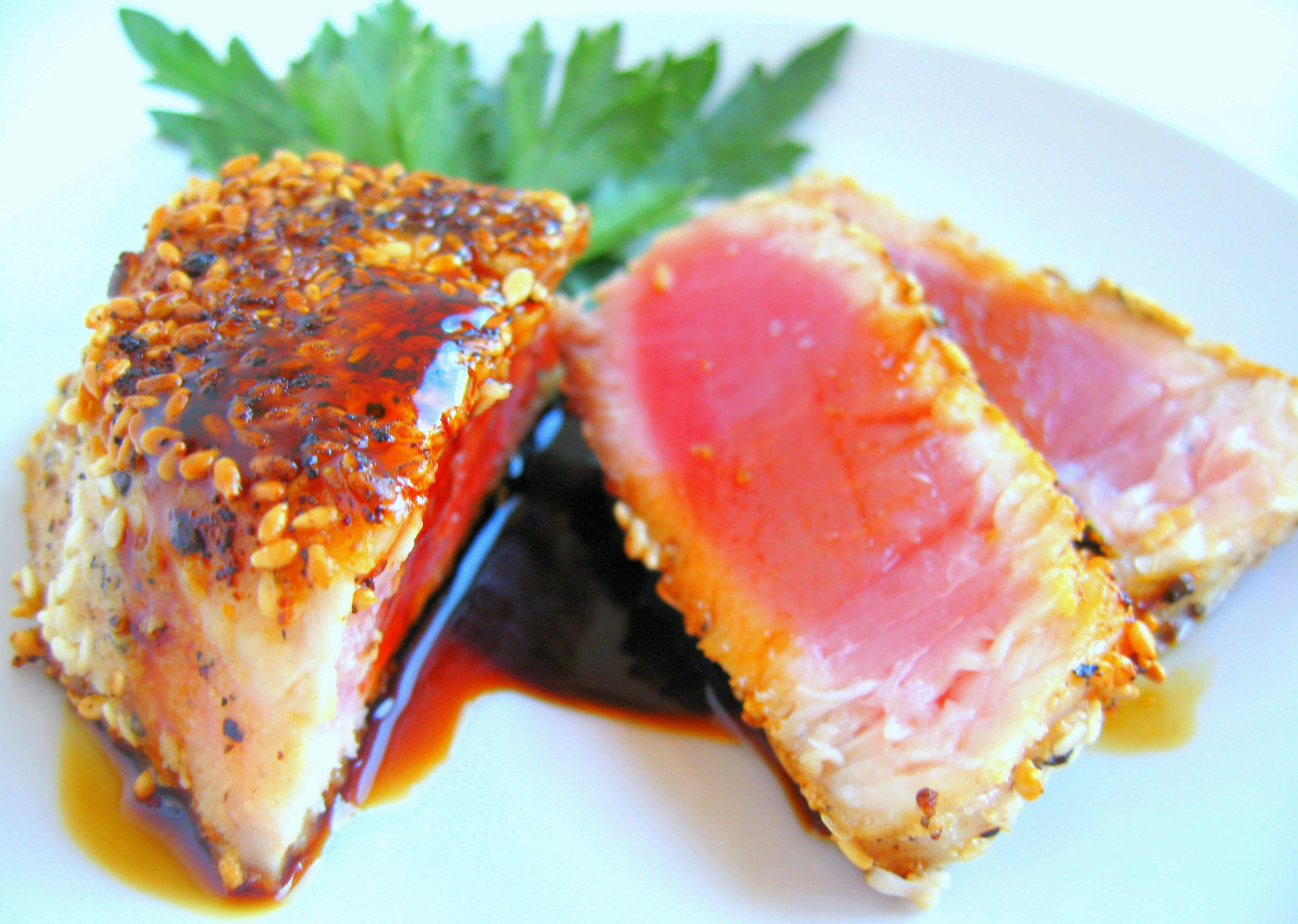 Sesame Crusted Ahi Tuna   Jacob's Kitchen