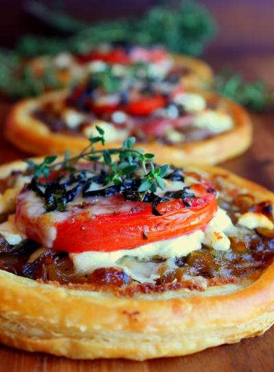 Tomato, Goat Cheese, And Onion Tart Recipe — Dishmaps